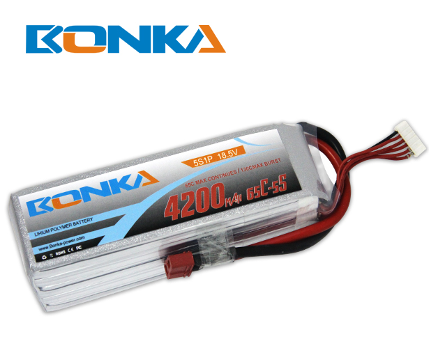 Bonka 4200mAH 65C 5S1P 18.5V Lipo Battery Packs-R/C Heli