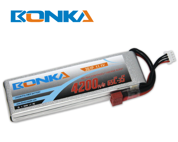 Bonka 4200mAH 65C 3S1P 11.1V Lipo Battery Packs-R/C Heli