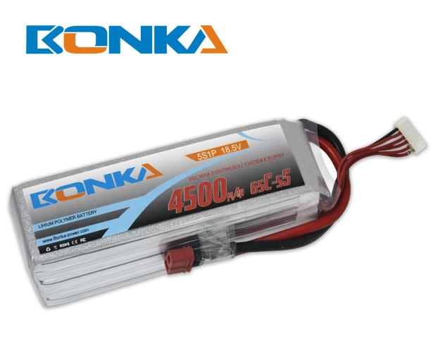Bonka 4500mAH 65C 5S1P 18.5V Lipo Battery Packs-R/C Heli