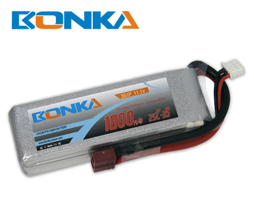 Bonka1800mAh 25C 3S1P 11.1V Lipo Battey Packs-RC/ Heli