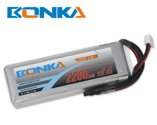 Bonka 2200mAh 25C 2S1P 7.4V Lipo Battey Packs-RC/ Heli