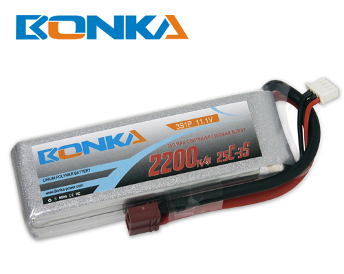 Bonka 2200mAh 25C 3S1P 11.1V Lipo Battey Packs-RC/ Heli