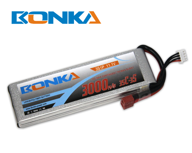 Bonka 3000mAh 35C 3S1P 11.1V Lipo Battey Packs-RC/ Heli