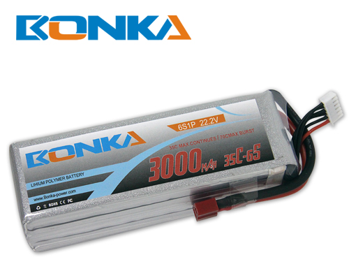 Bonka 3000mAh 35C 6S1P 22.2V Lipo Battey Packs-RC/ Heli