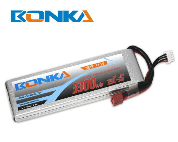 Bonka 3300mAh 35C 3S1P 11.1V Lipo Battey Packs-RC/ Heli