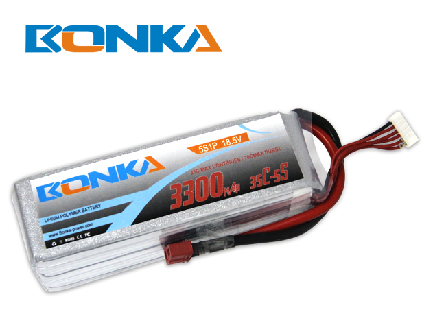 Bonka 3300mAh 35C 5S1P 18.5V Lipo Battey Packs-RC/ Heli