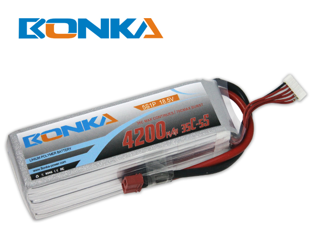 Bonka 4200mAh 35C 5S1P 18.5V Lipo Battey Packs-RC/ Heli