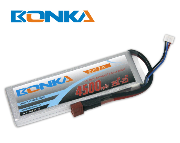 Bonka 4500mAh 35C 2S1P 7.4V Lipo Battey Packs-RC/ Heli
