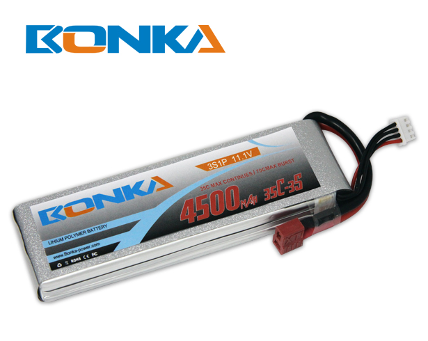 Bonka 4500mAh 35C 3S1P 11.1V Lipo Battey Packs-RC/ Heli
