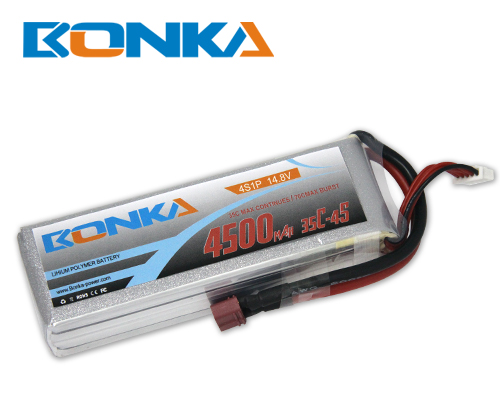 Bonka 4500mAh 35C 4S1P 14.8V Lipo Battey Packs-RC/ Heli