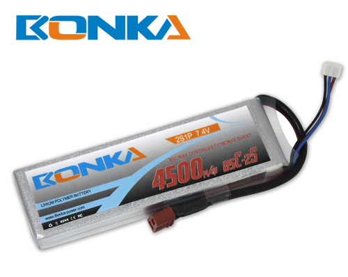 Bonka 4500mAH 85C 2S1P 7.4V Lipo battery Packs-R/C Heli