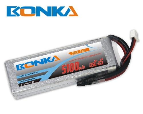 Bonka 5100mAH 85C 2S1P 7.4V Lipo battery Packs-R/C Heli