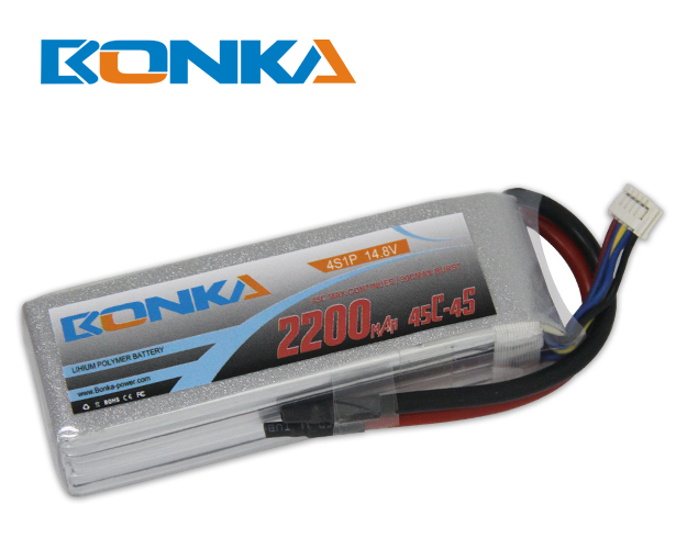 Bonka 2200mAh 45C 4S1P 14.8V Lipo Battey Packs-RC/ Heli