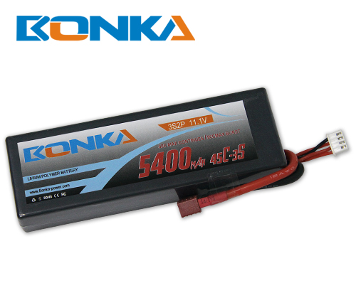 Bonka 5400mAH 45C 3S2P 11.1V  Lipo battery Packs-R/C Car