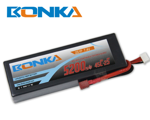 Bonka 5200mAH 45C 2S1P 7.4V  Lipo battery Packs
