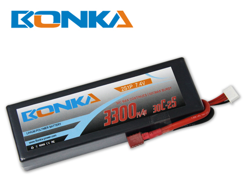 Bonka 3300mAH 30C 2S1P 7.4V Lipo battery Packs-R/C Car