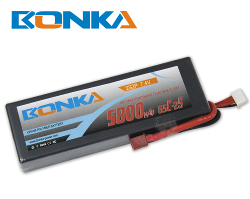 Bonka 5800mAH 65C 2S2P 7.4V  Lipo battery Packs