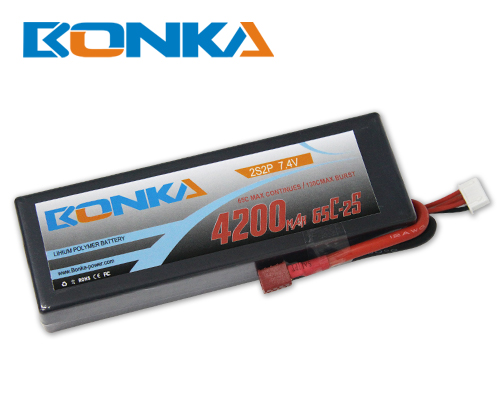 Bonka 4200mAH 65C 2S2P 7.4V  Lipo battery Packs