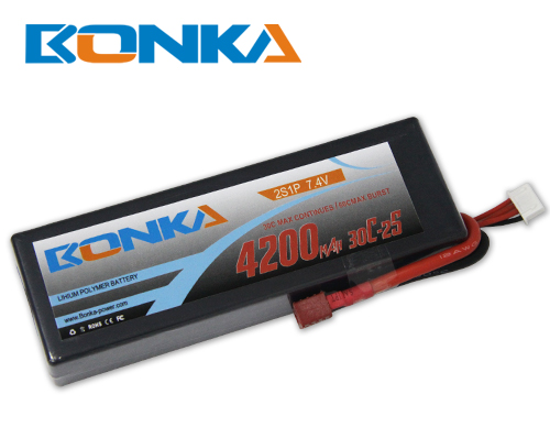 Bonka 4200mAH 30C 2S1P 7.4V Lipo battery Packs-R/C Car