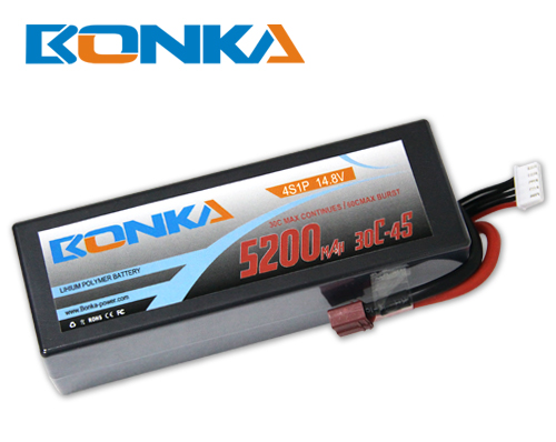 Bonka 5200mAH 30C 4S1P 14.8V Lipo battery Packs-R/C Car