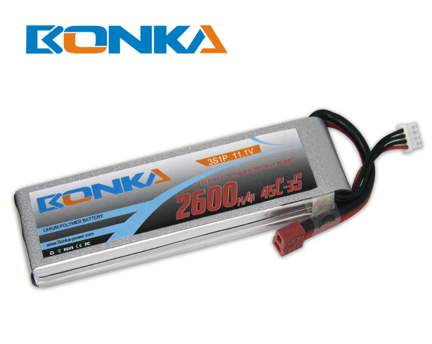 Bonka 2600mAh 45C 3S1P 11.1V Lipo Battey Packs-RC/ Heli