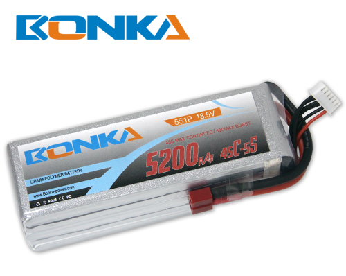 Bonka 5200mAh 45C 5S1P 18.5V Lipo Battey Packs-RC/ Heli