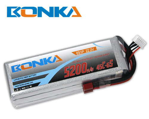 Bonka 5200mAh 45C 6S1P 22.2V Lipo Battey Packs-RC/ Heli