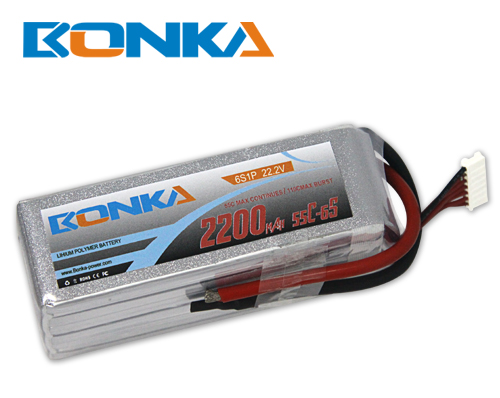 Bonka 2200mAh 55C 6S1P 22.2V Lipo Battey Packs-RC/ Heli