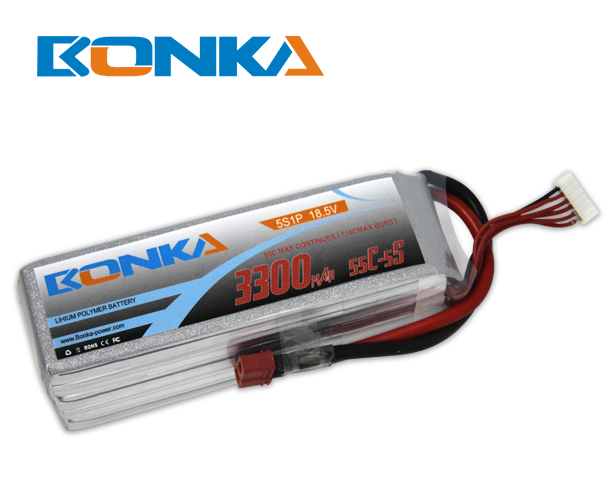Bonka 3300mAh 55C 5S1P 18.5V Lipo Battey Packs-RC/ Heli