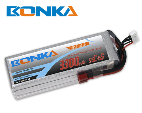 Bonka 3300mAh 55C 6S1P 22.2V Lipo Battey Packs-RC/ Heli