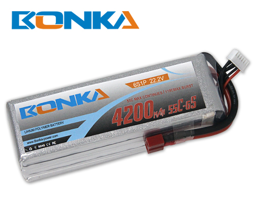 Bonka 4200mAh 55C 6S1P 22.2V Lipo Battey Packs-RC/ Heli