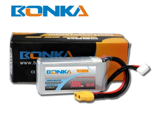 Bonka 1000mAh 45C 3S1P 11.1V  LiPo Battery Packs for FPV Qua