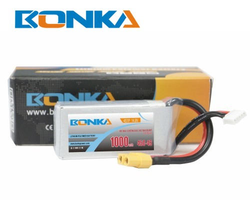Bonka 1000mAh 45C 4S1P 14.8V  LiPo Battery Packs for FPV Qua