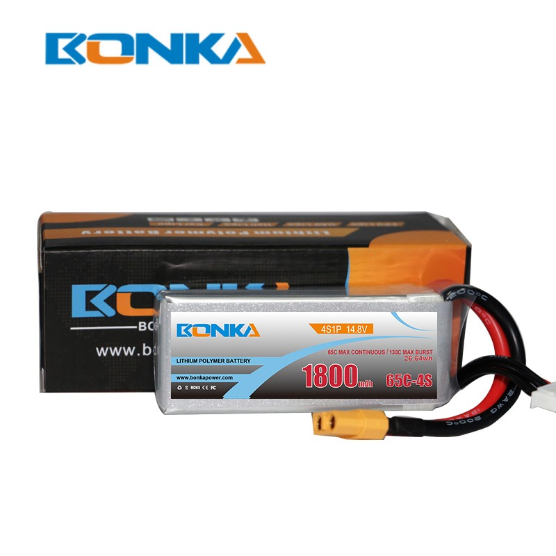 Bonka 1800mAh 65C 4S1P 14.8V Lipo Battery packs