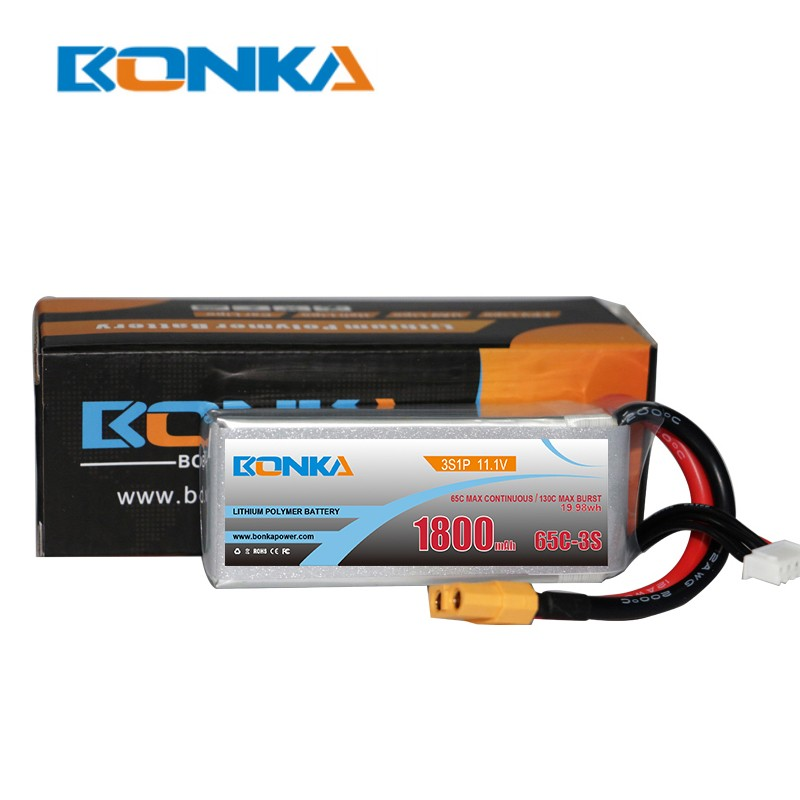 Bonka 1800mAh 65C 3S1P 11.1V Lipo Battery packs