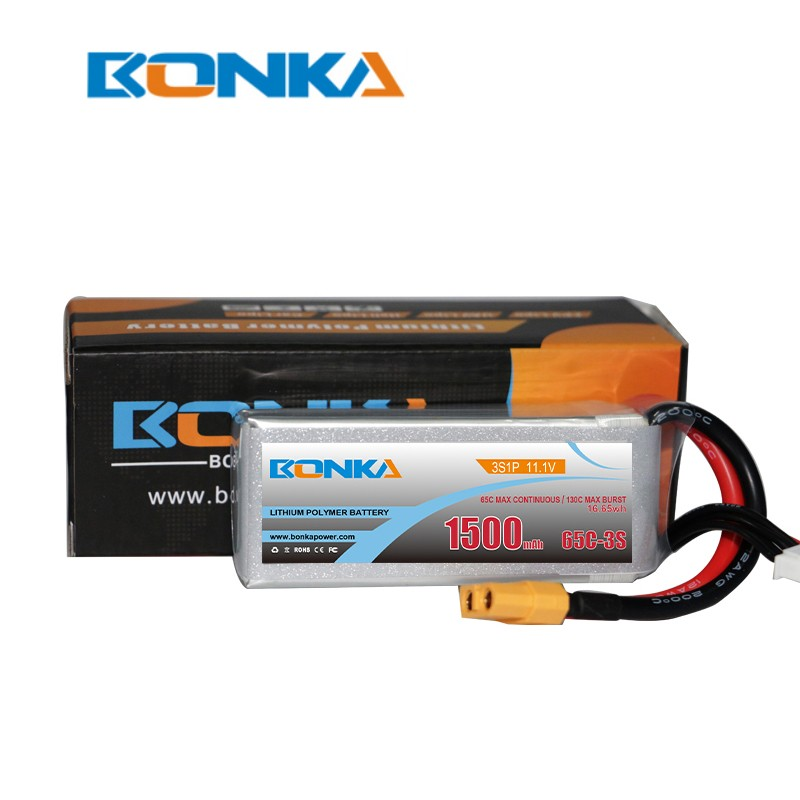 Bonka 1500mAh 65C 3S1P 11.1V Lipo battery packs