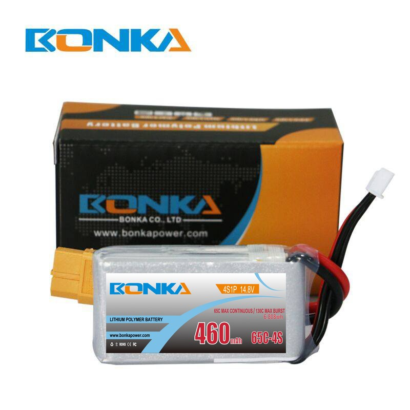 Bonka 460mAh 65C 4S1P 14.8V Lipo Fit for FPV Quad