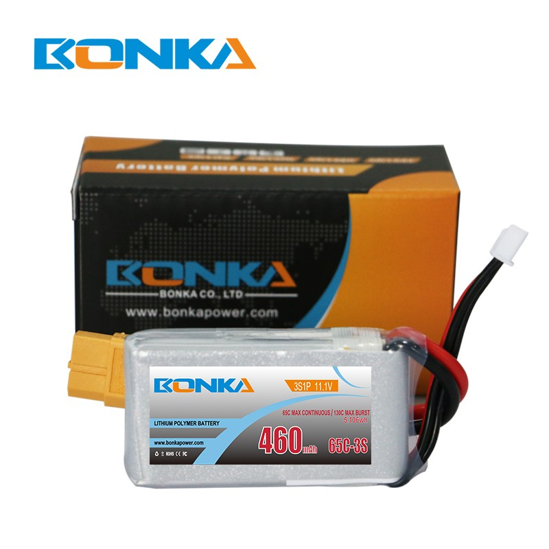Bonka 460mAh 65C 3S1P 11.1V Lipo Fit for FPV Quad
