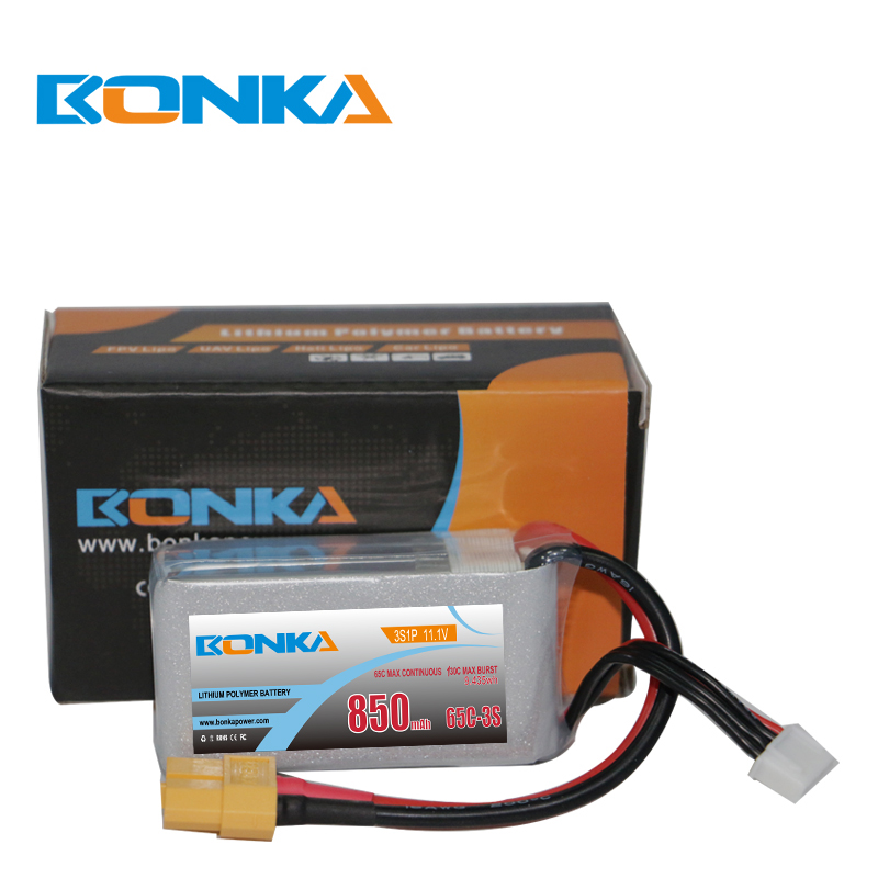 Bonka 850mAh 65C 3S1P 11.1V Lipo Fit for FPV Quad
