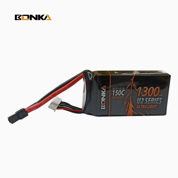 BONKA U2 1300mAh 150C 6S 22.2V Racing LiPo Battery Pack