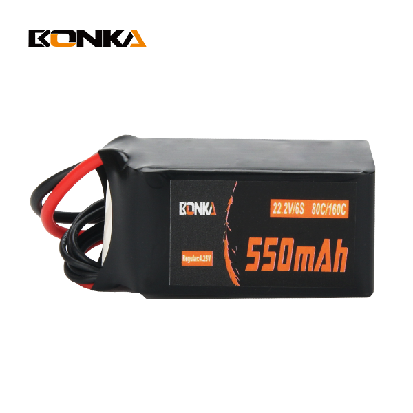 BONKA 550mAh 80C 6S 22.2V LiPo Battery Pack For FPV Mini Qua